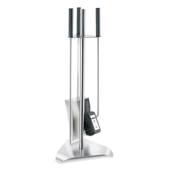 Blomus Chimo 4 Piece Fireplace Tool Set with Triangle Base