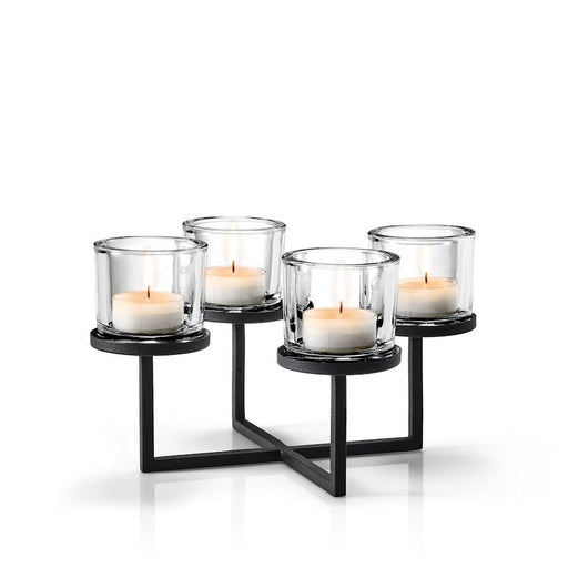 Blomus Nero Tealight Holder with Chandelier Tray Base