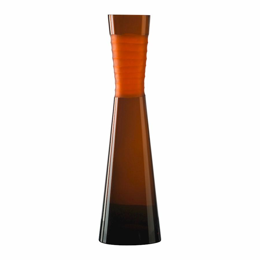 Cyan Design Large Chiseled Neck Vase, Orange
