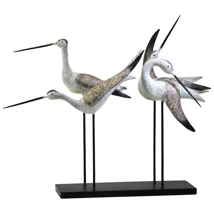Cyan Design Sandpiper Quartet, Weathered White and Gray
