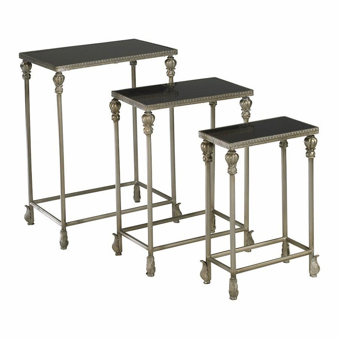 Cyan Design Livingston Nesting Tables, Antique Silver