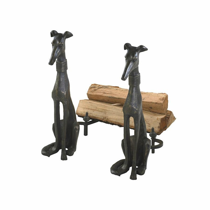 Cyan Design Dog Andirons, Canyon Bronze