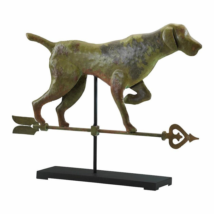 Cyan Design Dog On Stand, Verde and Rust With Black Stand