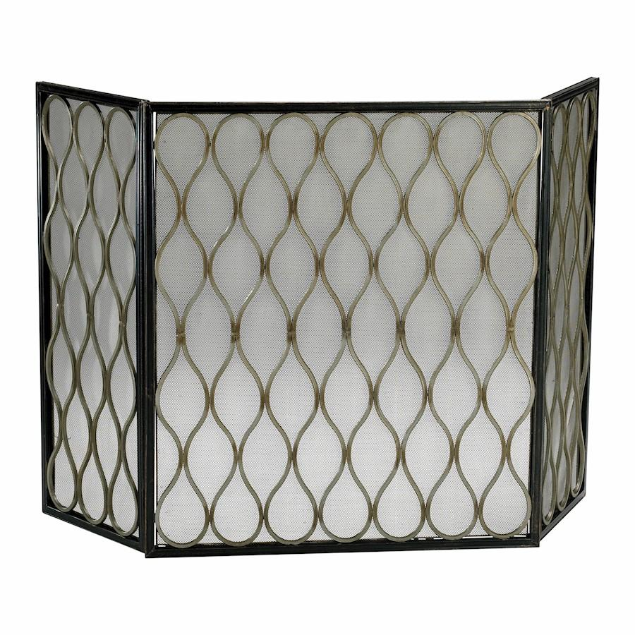 Cyan Design Mesh Fire Screen, Mystic Gold