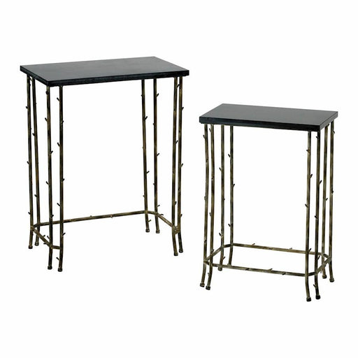 Cyan Design Nesting Tables, Distressed Bamboo