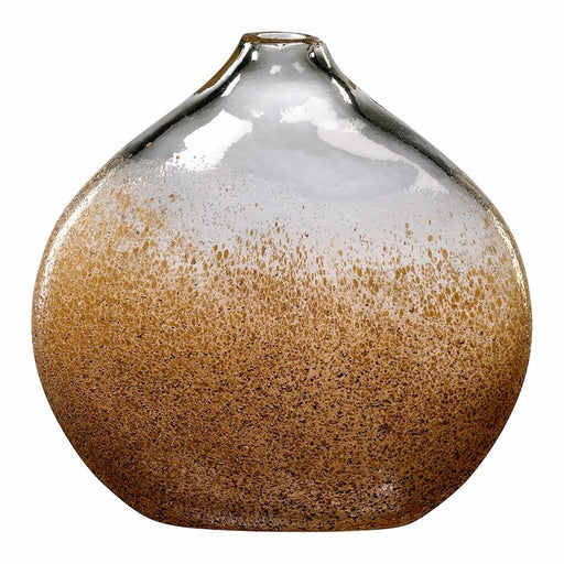Cyan Design Vase, Russet and Gold Dust