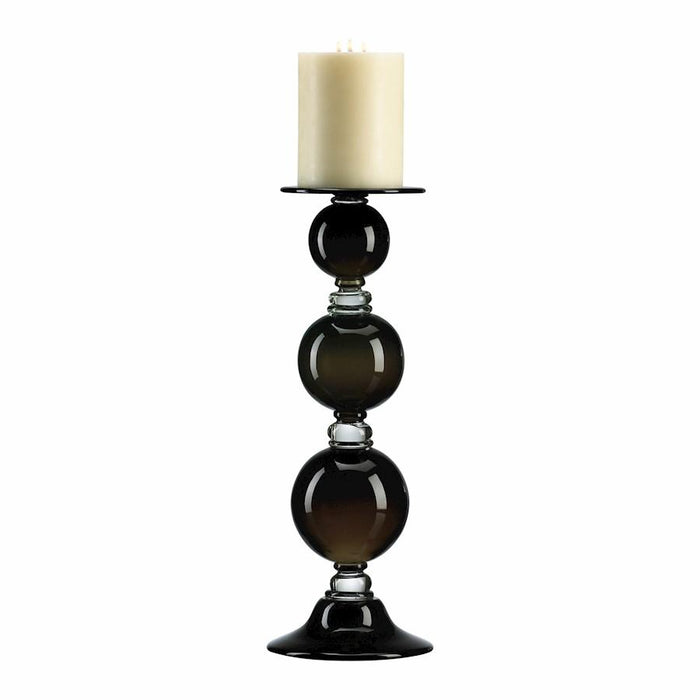 Cyan Design Medium Globe Candleholder, Black and Clear