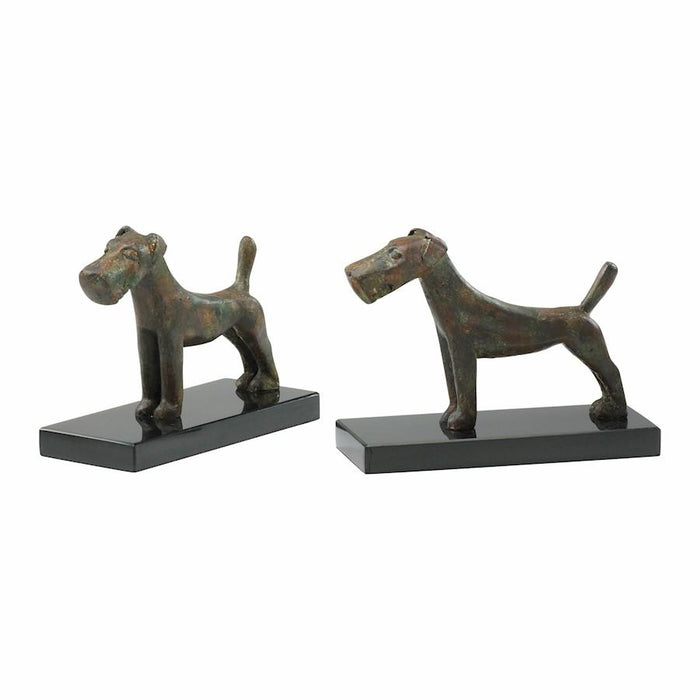 Cyan Design Scottish Dog Bookends, Byzantine Oxide