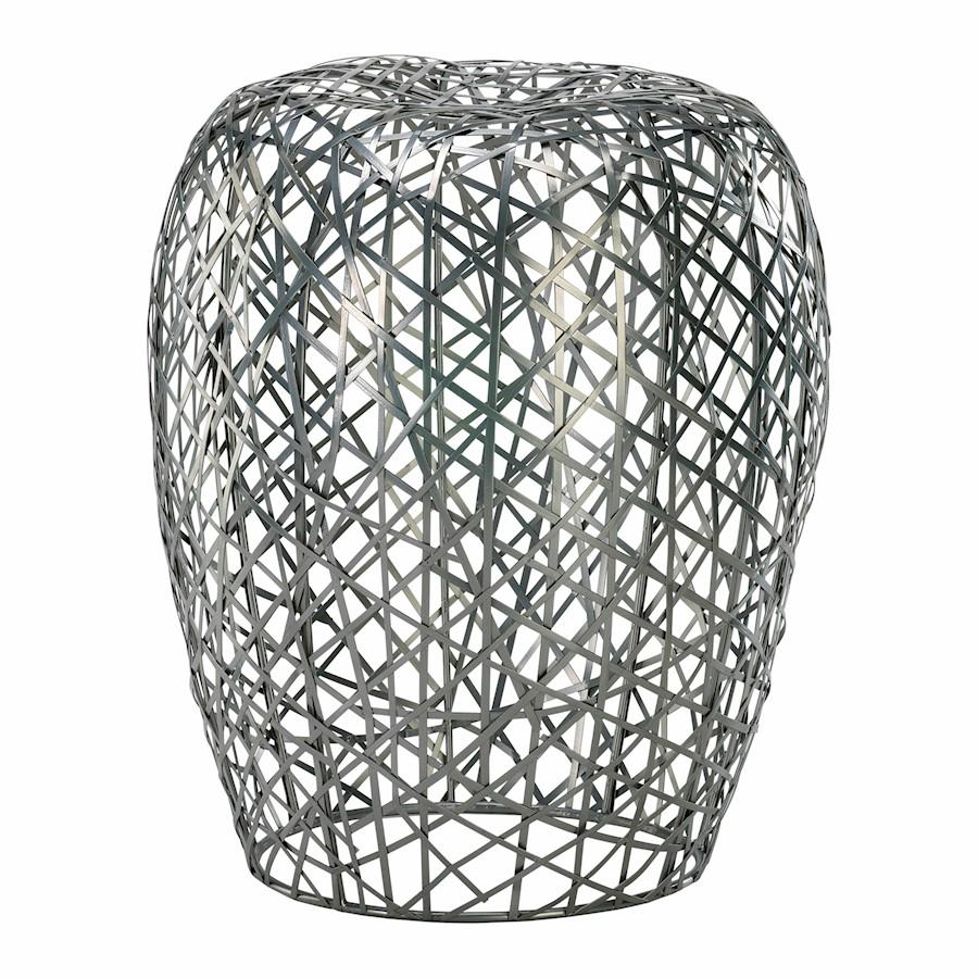 Cyan Design Open Grid Stool, Silver