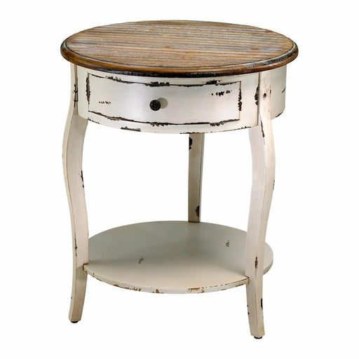 Cyan Design Abelard Side Table, Distressed White and Gray
