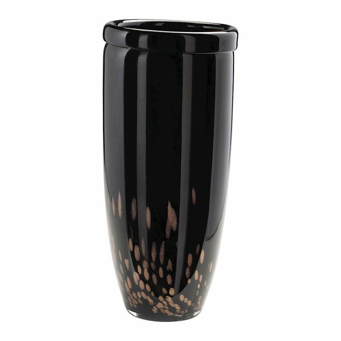 Cyan Design Large Gustavo Glass Vase, Black and Amber