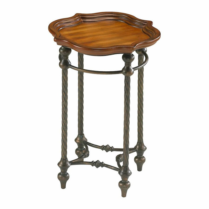 Cyan Design English Oval Side Table, Rosewood Rust and Verde