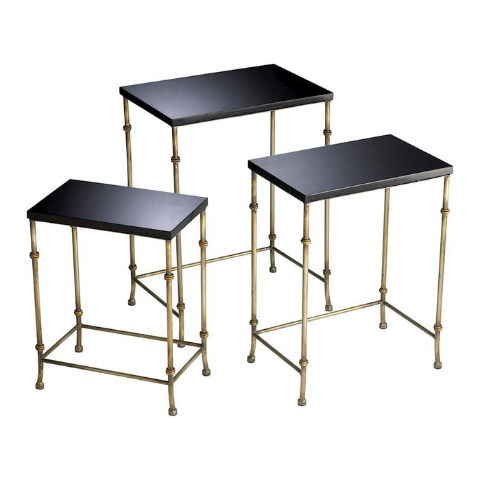 Cyan Design Sanders Nesting Tables, Antique Flemish and Black
