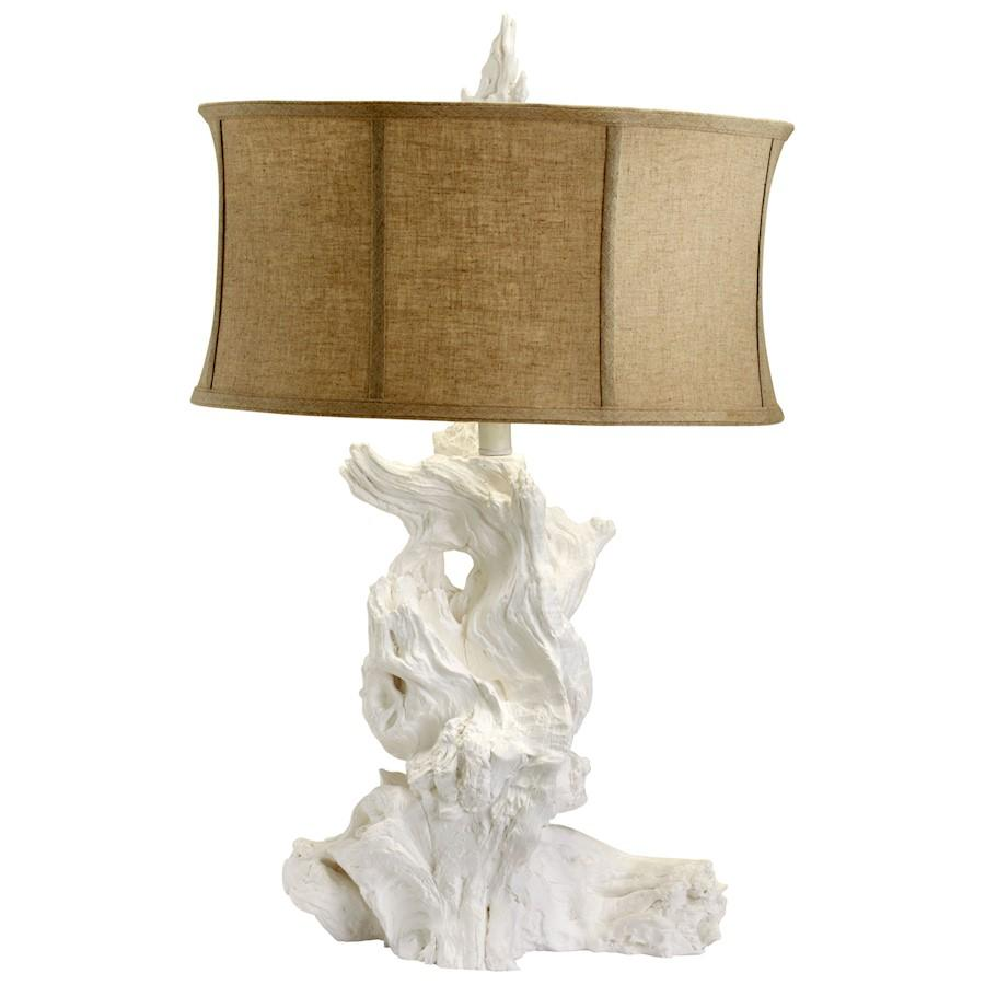 Cyan Design Driftwood Table Lamp, White