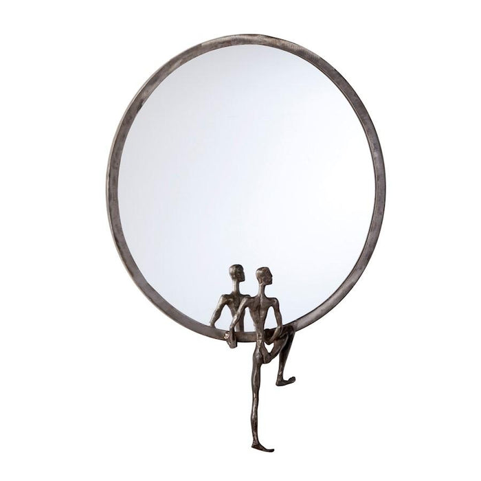 Cyan Design Kobe Mirror #1, Raw Steel
