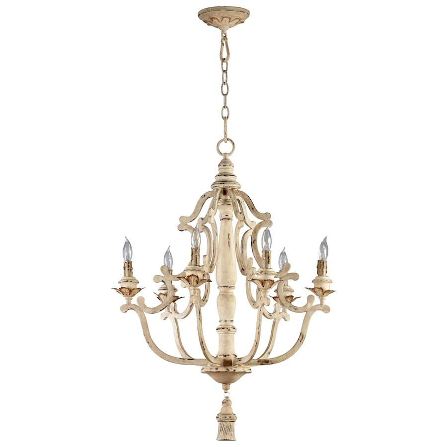 Cyan Design Maison Six Light Chandelier, Persian White