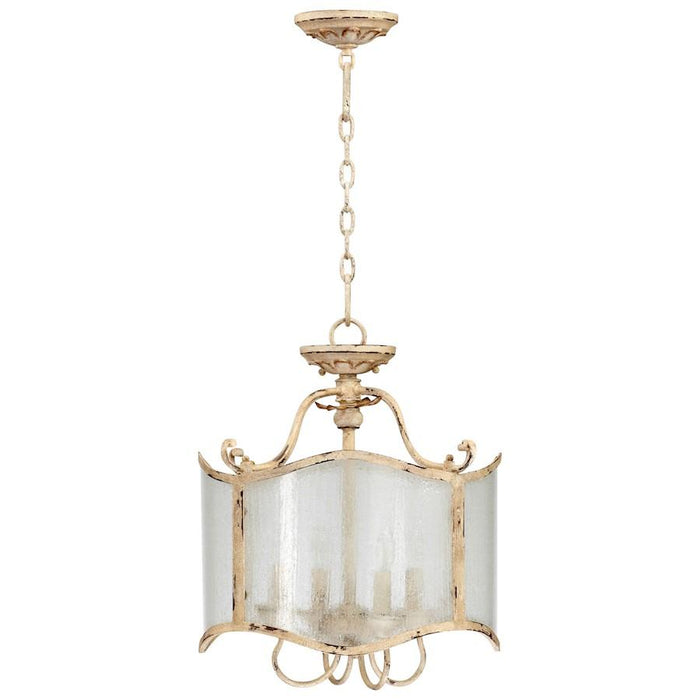Cyan Design Maison Four Light Dual Mount Pendant, Persian White