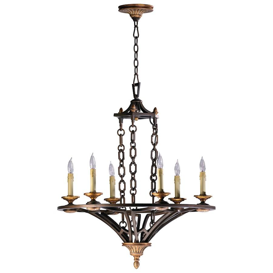 Cyan Design San Giorgio Six Light Chandelier, Oiled Bronze