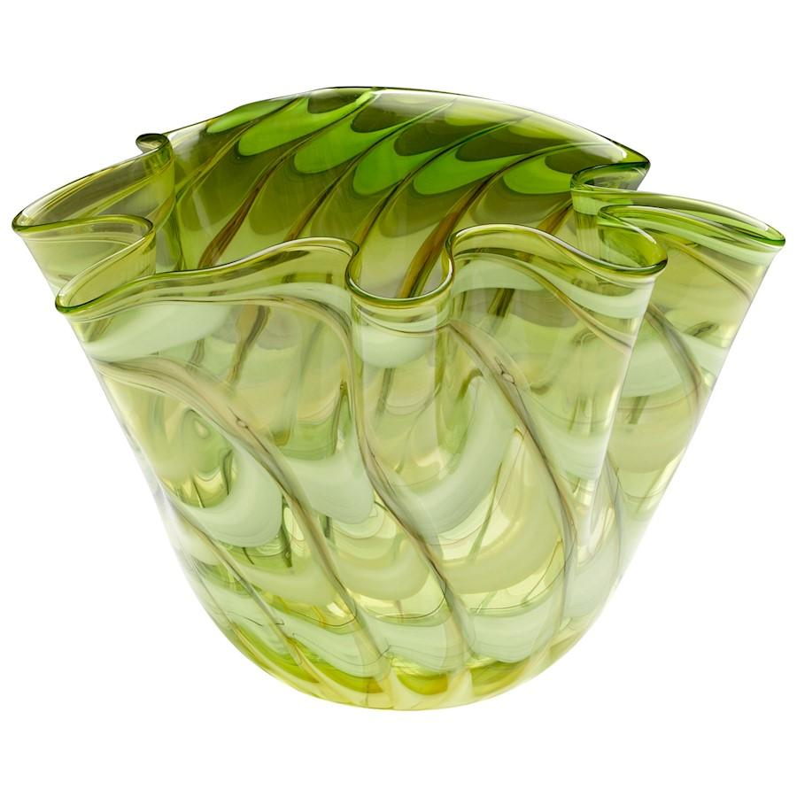 Cyan Design Large Francisco Bowl, Green and Yellow
