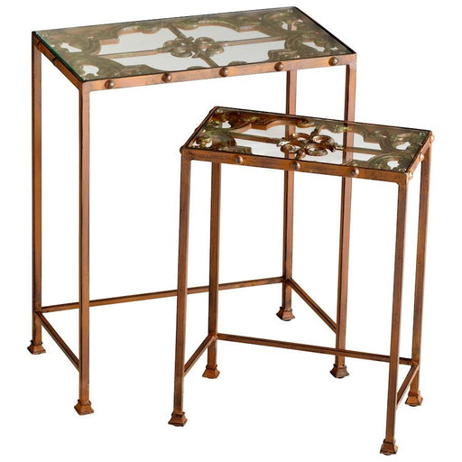 Cyan Design Gunnison Nesting Tables, Rust