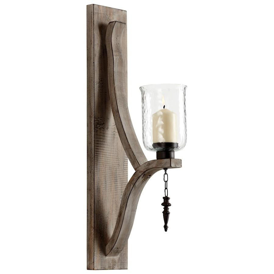 Cyan Design Giorno Wall Candleholder, Washed Oak