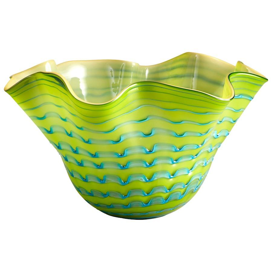 Cyan Design Large Glasgow Bowl, Green and Blue