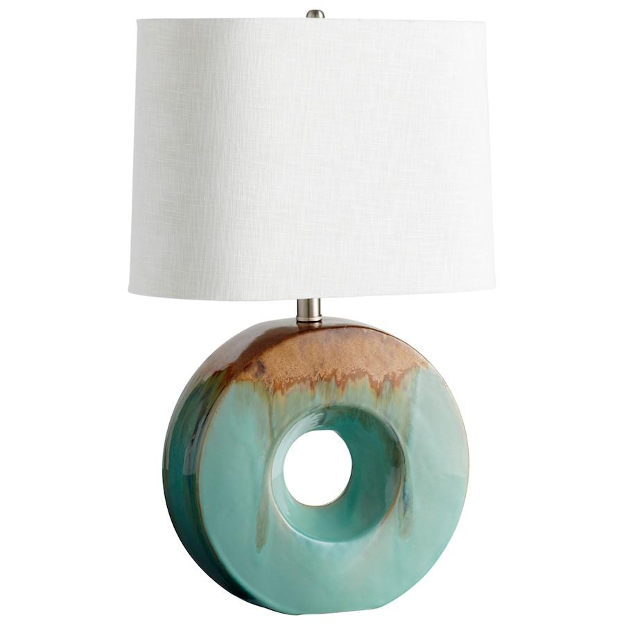 Cyan Design Oh Table Lamp, Blue Glaze and Brown