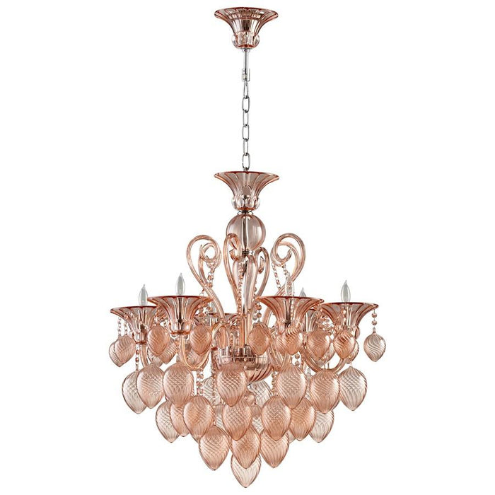 Cyan Design Small Bella Vetro Chandelier, Chrome