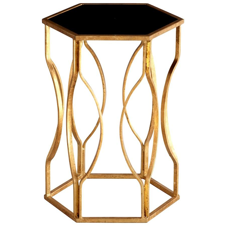 Cyan Design Anson Side Table, Gold Leaf