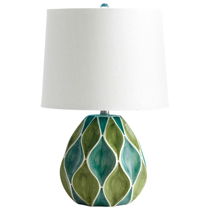 Cyan Design Glenwick Table Lamp, Green & White Glossy