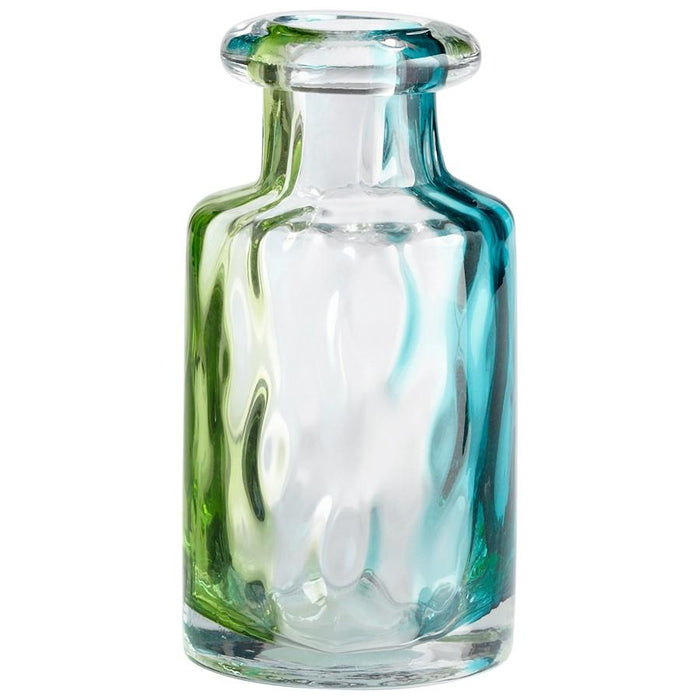 Cyan Design Rigby Vase, Green Blue and Clear