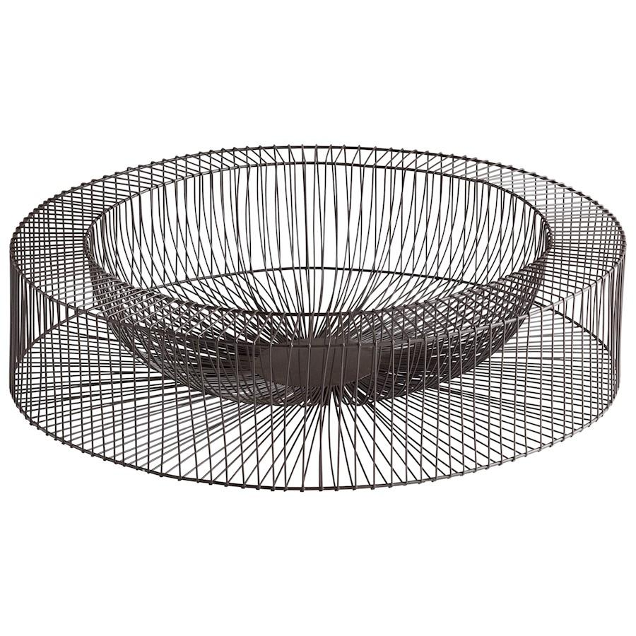 Cyan Design Large Wire Wheel Tray, Graphite