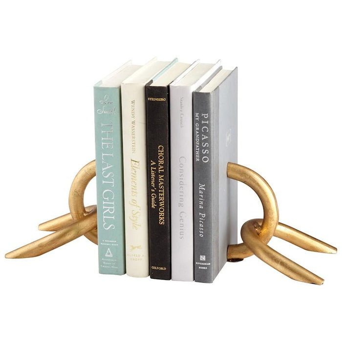 Cyan Design Goldie Locks Bookends, Gold