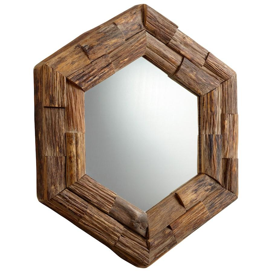 Cyan Design Hexagon Frontier Mirror, Pecan