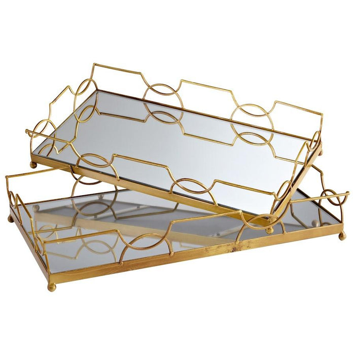 Cyan Design Nephrite Trays, Antique Gold