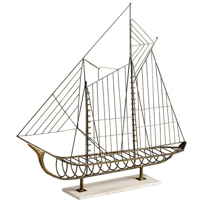 Cyan Design Sail Away Sculpture, Rustic
