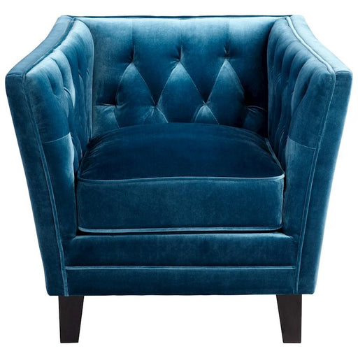 Cyan Design Blue Prince Valiant Chair, Blue