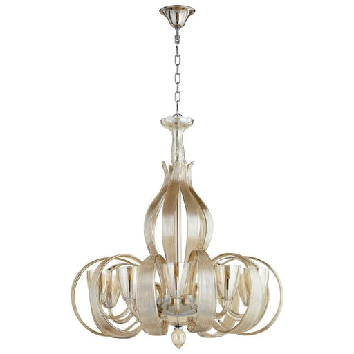 Cyan Design Lucille Ten Light Chandelier, Chrome