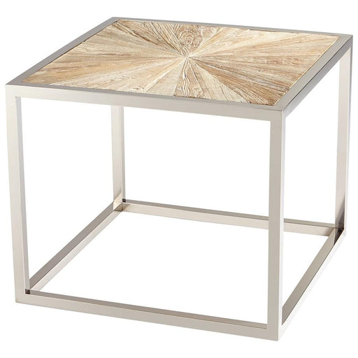 Cyan Design Aspen Side Table, Black Forest Grove and Chrome