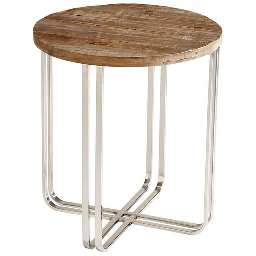 Cyan Design Montrose Side Table, Black Forest Grove and Chrome