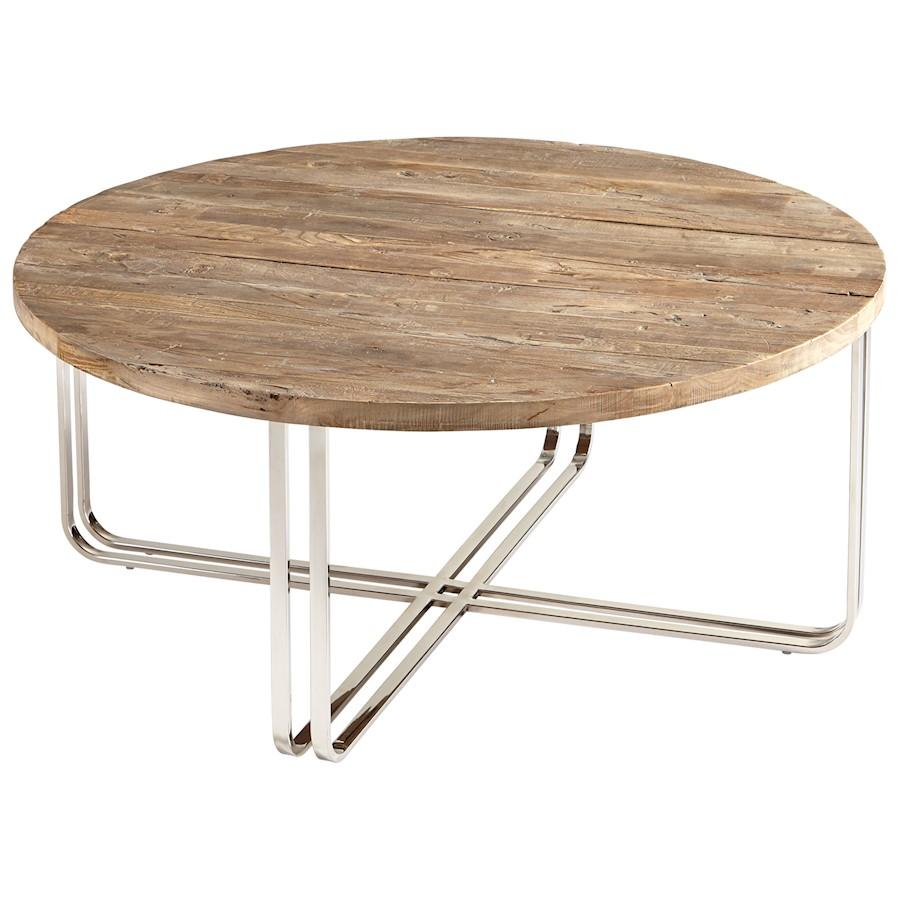 Cyan Design Montrose Coffee Table, Black Forest Grove and Chrome