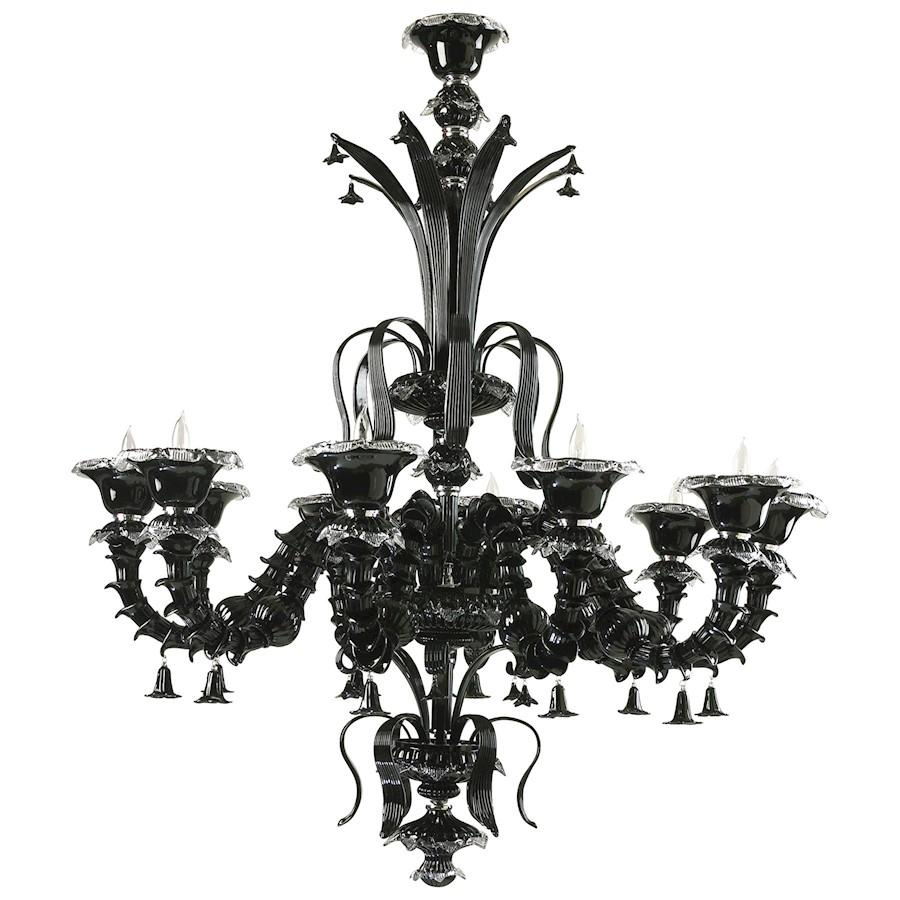 Cyan Design Venetn Noir Ten Lamp Chandelier, Black
