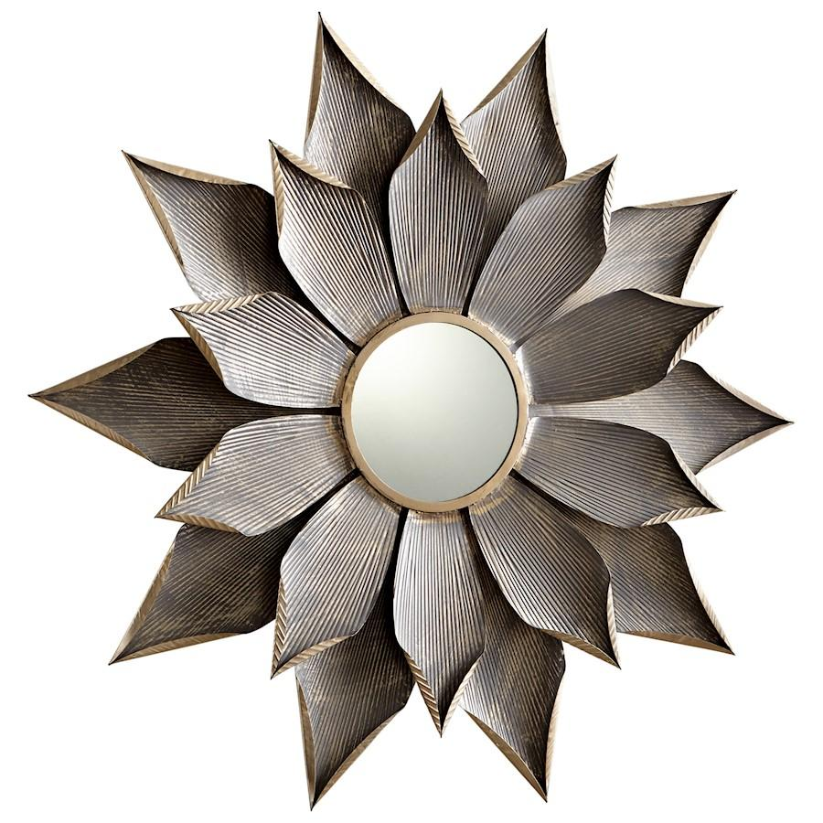 Cyan Design Small Blossom Mirror, Graphite