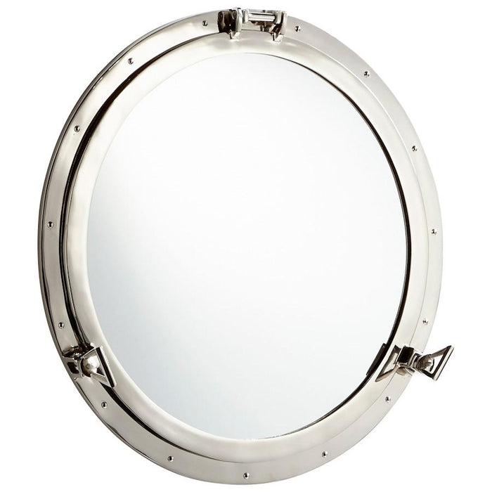 "Cyan Design Seeworthy Mirror, 4"", Nickel"