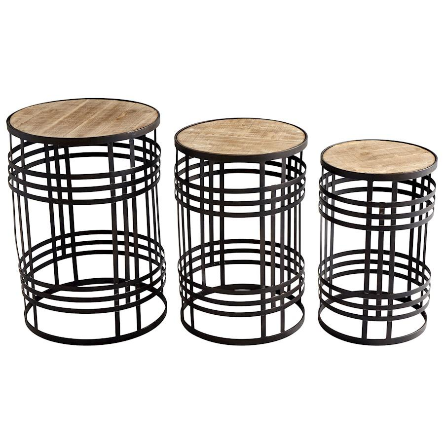 Cyan Design Banded About Tables, Brown/Ebony
