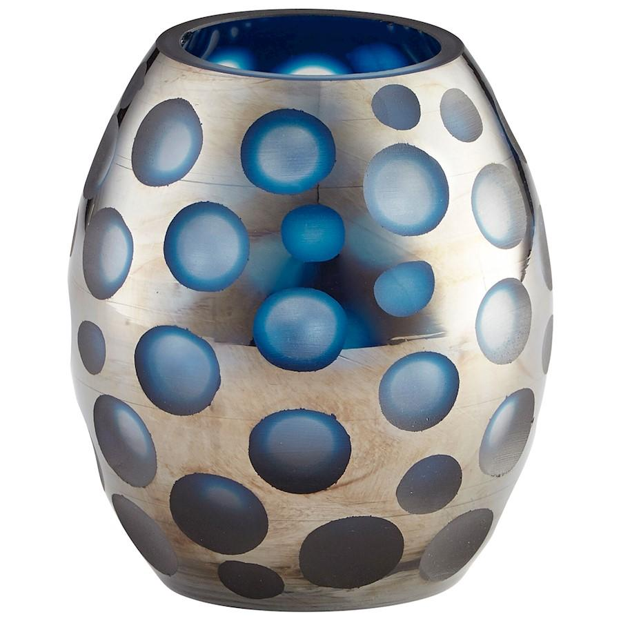 Cyan Design Small Quest Vase, Blue