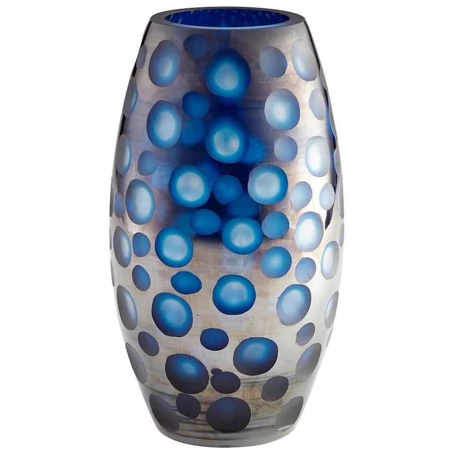 Cyan Design Large Quest Vase, Blue