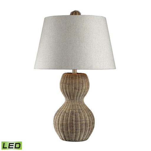 "Dimond Lighting 26"" Sycamore Hill Rattan LED Table Lamp in Light Natural Finish"