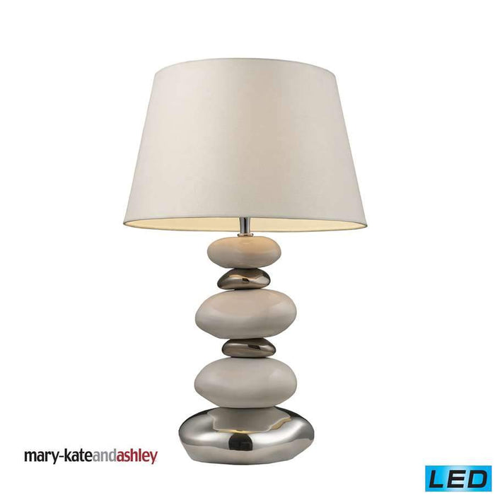 Dimond Elemis Table Lamp in Pure White and Chrome Finish