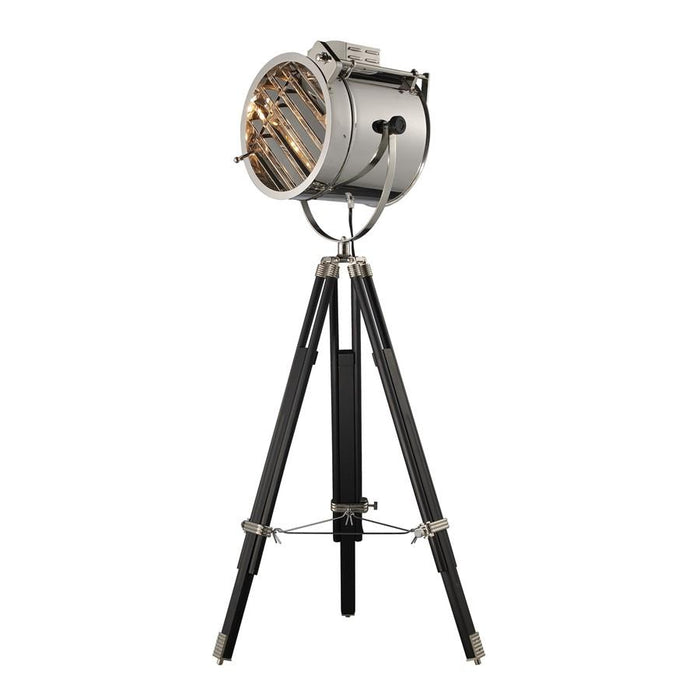Dimond Curzon Floor Lamp, Chrome and Black